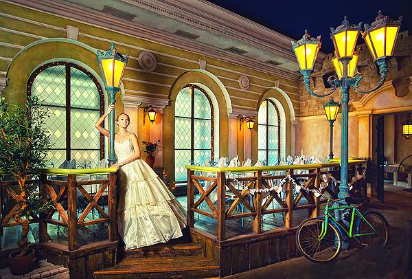свадебная фотография в роскошном интерьере