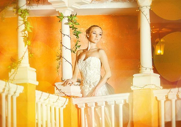невеста на веранде
