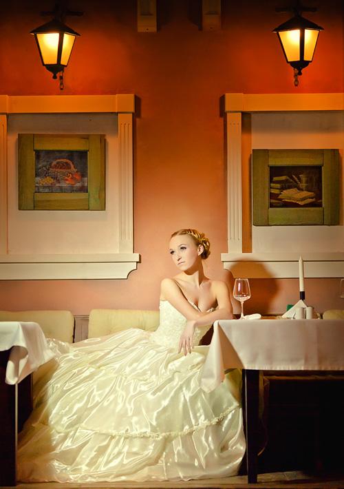 романтичная свадебная фотография