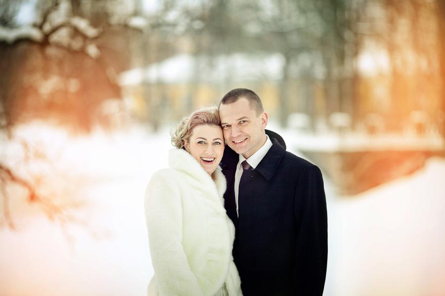 свадебная фотография зимой