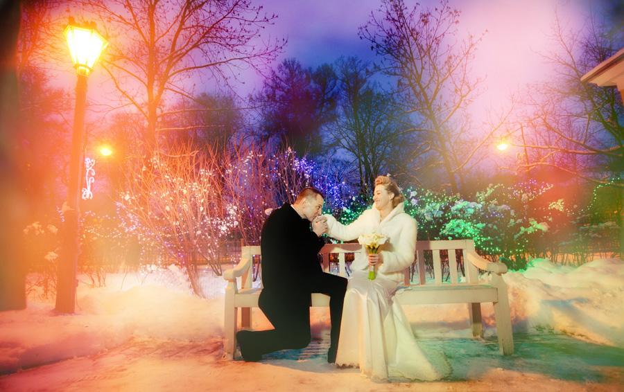 зимний вечер на свадьбе