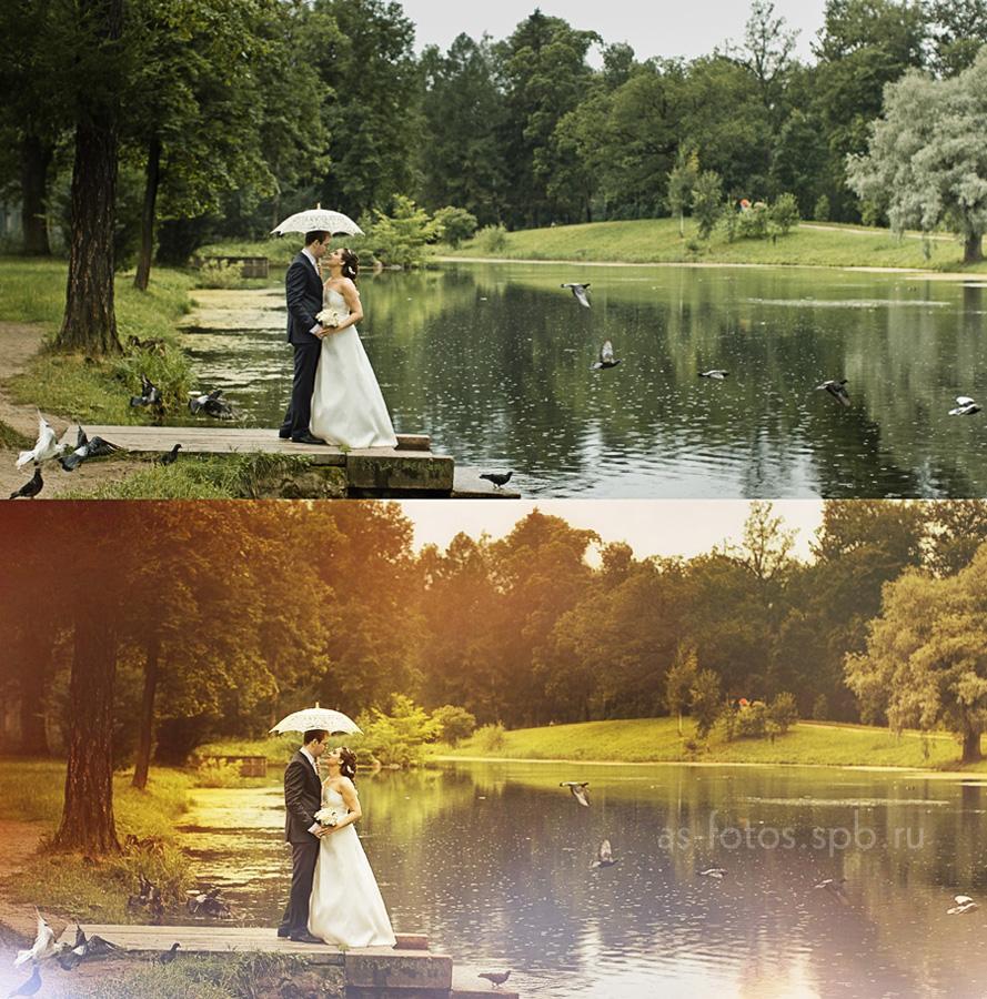 обработка свадебных фотографий до и после