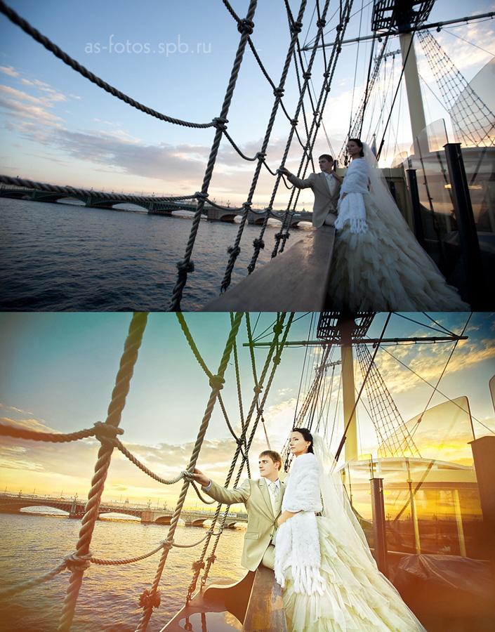 художественная обработка свадебных фотографий до и после