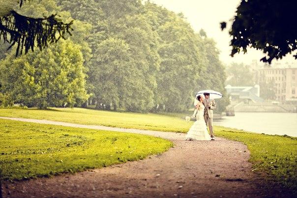 Свадебный фотограф — Что делать если пойдет дождь (снег)?