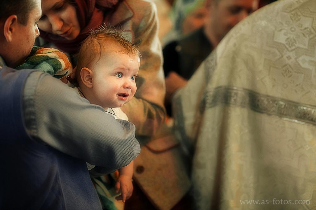 мальчик крещение