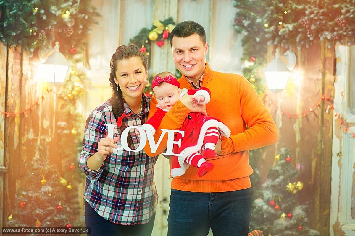 новогодний семейный фотосет