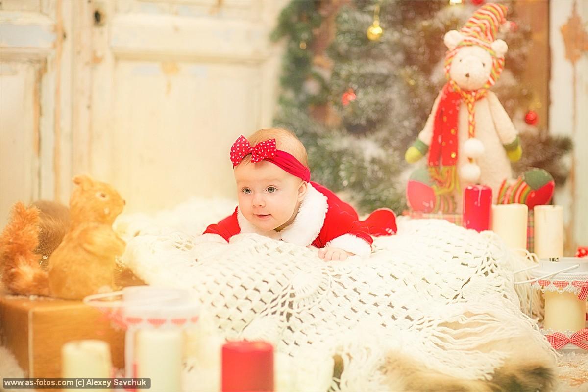 новогодний фотосет для малыша
