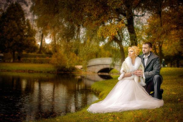 Осенние свадебные фотографии
