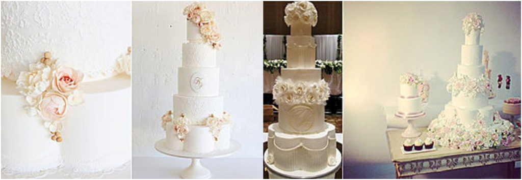 Свадебный торт - модные тренды 2018 Багеты и золоченные рамки на свадебном торте