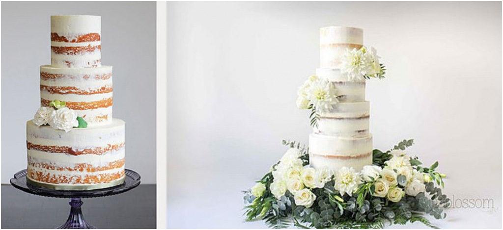 Свадебный торт - модные тренды 2018 Полуголые свадебные торты
