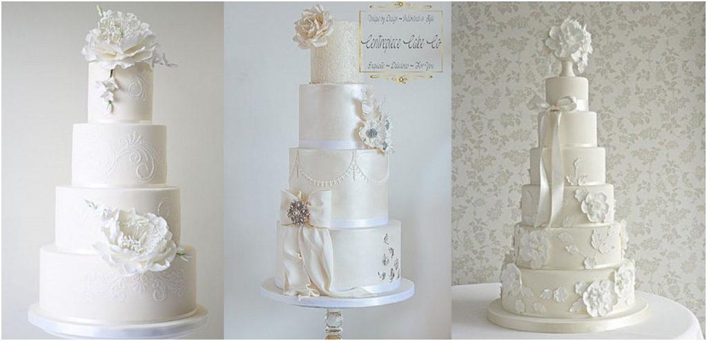 Свадебный торт - модные тренды 2018 Монохромные торты, или белое на белом
